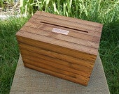 Large Personalized Wedding Envelope / Gift Card Crate with Hand Holds Wine Box Stained Rustic Handcrafted