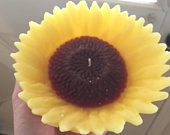 Large Sunflower floating candle for pools, fountains wedding reception centerpiece fall autumn