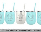 MERMAID WINE TUMBLER Beach Bachelorette Tumblers Personalized Bridal Party Gifts Bridesmaid Proposals Wedding Day Favors