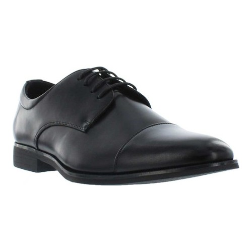Men's Giorgio Brutini Aaron Cap Toe Oxford, Size: 9.5 M, Black Synthetic