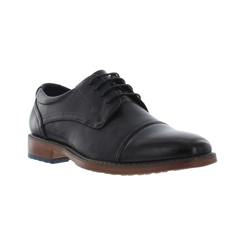 Men's Giorgio Brutini Aiden Cap Toe Oxford, Size: 13 M, Black Synthetic