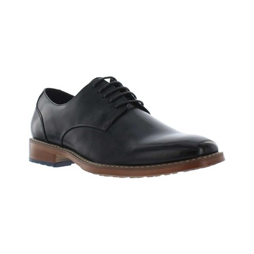 Men's Giorgio Brutini Asher Plain Toe Oxford, Size: 10 M, Black Synthetic