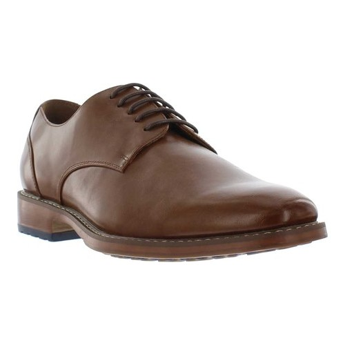 Men's Giorgio Brutini Asher Plain Toe Oxford, Size: 9.5 M, Cognac Synthetic