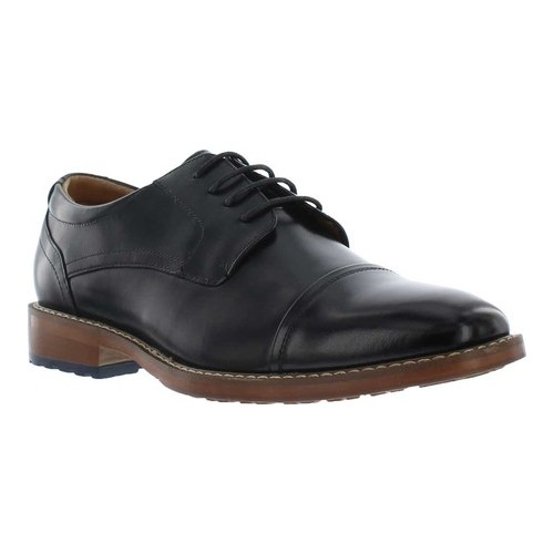 Men's Giorgio Brutini Crew Cap Toe Oxford, Size: 13 M, Black Leather