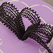 """Mesh Black Wired Burlap Ribbon - 7/8"""" X 25yd - by Paper Mart"""
