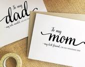 Mother of the bride, father of the groom gift from bride to father gift from daughter gift for dad from bride to mom wedding day card pob3