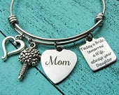 Mother of the bride gift bracelet, Wedding party gift for Mom, Bridal gift for Mom from daughter, Today a bride tomorrow a wife always your