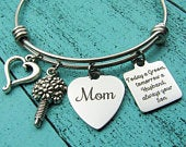 Mother of the groom gift, Wedding gift for Mom bracelet, Gift from son, Groom gift for Mom, Today a groom tomorrow a husband always your son