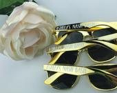 Nashville Favors Custom Sunglasses Personalized Sunglasses Nash Bash Gold Sunglasses Black Sunglasses Bridal Party Sunglasses
