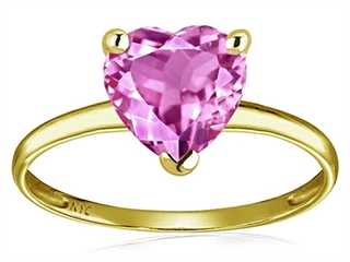 Original Star K™ Created Pink Sapphire Heart Shape 8mm Solitaire Engagement Ring