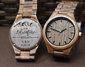 Our adventure gift, Personalized Watch, Custom wooden Watch, Mens Wood Watch, Gifts for men, Gifts for husband, boyfriend gifts, groom gift
