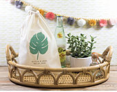 Palm Leaf Wedding Welcome Bags Monstera Leaf Welcome Bags Tropical Wedding Favor Bag Beach Wedding Welcome Bags Destination Wedding