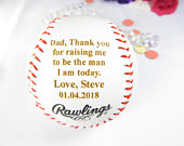 Personalized Father of Groom Gift, Father Son, Gift Dad, Groom Gift, Thank you for raising me to be the man I am today, Baseball