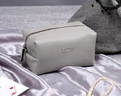 Personalized Make Up Bag Bridesmaid Gift Cosmetic Organizer Vegan Leather Case Wedding Bridal Gift Cosmetic Pouch