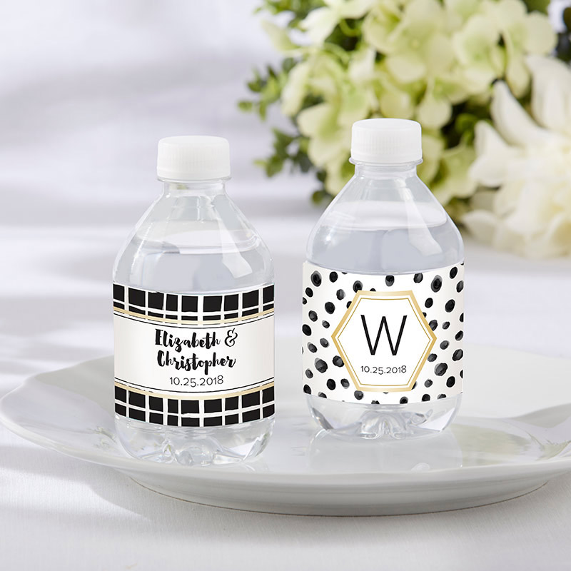 Personalized Modern Classic Water Bottle Labels