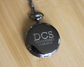 Personalized Pocket Watch as groomsmen gift or groom groomsman gift. Pocket Watch for groomsmen personalized gift as best man gift.