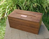 Personalized Wedding Envelope / Gift Card Crate Card Box Stained Rustic W/OUT Side Slat Spaces