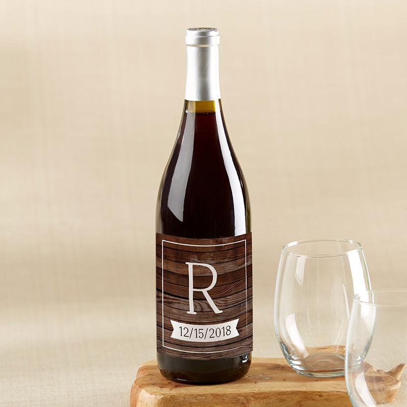 Personalized Winter Wine Bottle Labels