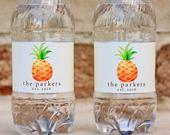 Pineapple Wedding Water Bottles Labels Waterproof Wedding Water Bottle Stickers Beach Wedding Favors Tropical Wedding Welcome Bag Gifts