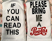 Please Bring Me A PepsiCola Funny socks, Birthday Gift, Mothers Day gift, Valentines Gift, funny gift, wine socks, Valentines gift