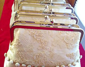 Repurposed wedding dress/Heirloom bridal clutch/Wedding gift for bride/Custom made