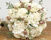 Rose Gold Wedding Bouquet Preserved Dried flowers, Pink, Cream, Blush, Green, Sola ROSE GOLD COLLECTION