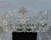 SALESALE!!! Silver Swarovski Tiara, CristalTiara , Wedding Tiara ,Crown, Princess Tiara, Quinceaera, Cristal Headpiece, Sweet 16 Tiara
