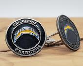 San Diego Chargers Cufflinks NFL Football California Golf Ball Markers Unique 1 of Kind Graduation Unique Christmas Gift Alt.