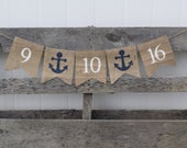 Save the Date Banner Nautical Wedding Banner Engagement Engagement Party Bridal Shower Banner Wedding Photo Prop Anchors