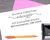 Self Inking Address Stamp, Wedding Stamp, Address Stamp, Custom Address Stamp, Return Address Stamp, Housewarming Gift ArtS011
