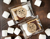 Smore Love Stickers Camping Theme Wedding Favors, Bridal Shower DIY Food Favor 20 Stickers