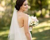 Soft 2 Tier Drop Wedding Veil with Blusher Available in 9 Lengths and 10 Colors! Fast Shipping!