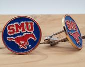 Southern Methodist University Cufflinks NCAA Logo Mustangs SMU Golf Ball Markers Unique 1 of Kind Graduation Unique Christmas Gift