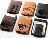 Star Wars Inspired Personalized Leather Magnetic Money Clip by Left Coast Original