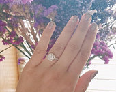Sterling Silver Juliet Promise Ring / 925 sterling silver / Engagement rings / Promise rings / Rings / Halo Style / Affordable Rings / CZs