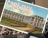 Vintage Postcard Save the Date (Congress Hall, Cape May, NJ) Design Fee