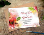 Watercolor Wedding Invitations Template Set Floral Wedding Invitations Printable Watercolor Wedding Invite Template Download Pink Flower