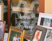 We Know you Would be Here Today, If Heaven Wasnt so Far Away Wedding Memorial Sign Remembrance Table Sign In Loving Memory Wedding Sign