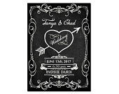 Wedding Invitation Custom Design Vintage Chalk Board Style Personalized with Your Information
