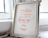 Wedding Memorial Sign, Heaven Wedding Sign, Rose Gold Memorial Sign, Someone We Love is in Heaven, In Loving Memory Sign, Calligraphy, A105