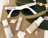 Wedding Sunglasses 24 Personalized Sunglasses Custom Sunglasses Sunglass Favors Destination Beach Wedding Favors (EB3107) SET of 24