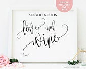 Wedding Wine Bar Sign Wedding Wine Sign Wine Bar Printable Sign Wine Theme Bridal Shower Favors Wine Theme Wedding Reception Signs For Bar