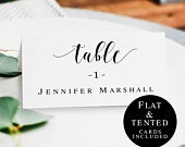Wedding name cards template Rustic wedding table card template DIY place cards Wedding name cards printable Wedding table cards DIY vm31