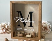 Wine Cork Holder Wedding Guest Book Alternative Sign a Cork Wood Shadow Box Cork Keeper Wedding Gift or Bridal Shower Gift