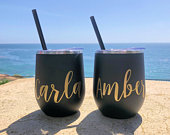 Wine Tumbler Custom Wine cup Personalized Wine Tumbler Bachelorette Party Favors Personalized Wine Glass Wine Tumbler with Lid