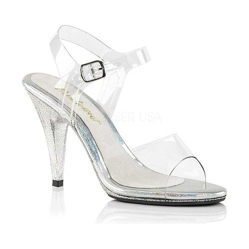 Women's Fabulicious Caress 408MG Ankle-Strap Sandal, Size: 12 M, Clear PVC/Clear