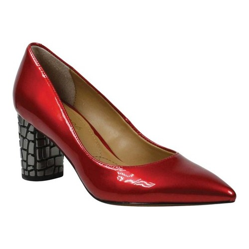 Women's J. Renee Vaneeta Pump, Size: 7.5 M, Red Patent