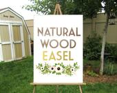 Wood Floor Easel Wedding Sign . Lightweight Stand Displays Large Acrylic Signs Wood Canvas Foam Board Chalkboard Signs 12 x 18 to 24 x 36