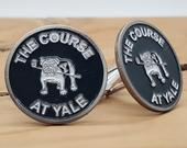 Yale University Cufflinks NCAA Golf Course at Yale Golf Ball Markers Handsome Dan Unique 1 of Kind Graduation Unique Christmas Gift