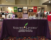 Young Living tablecloth/YL tablecloth/6ft tablecloth/8ft tablecloth/vendor tablecloth/trade show/Young Living/Essential oils/bestseller